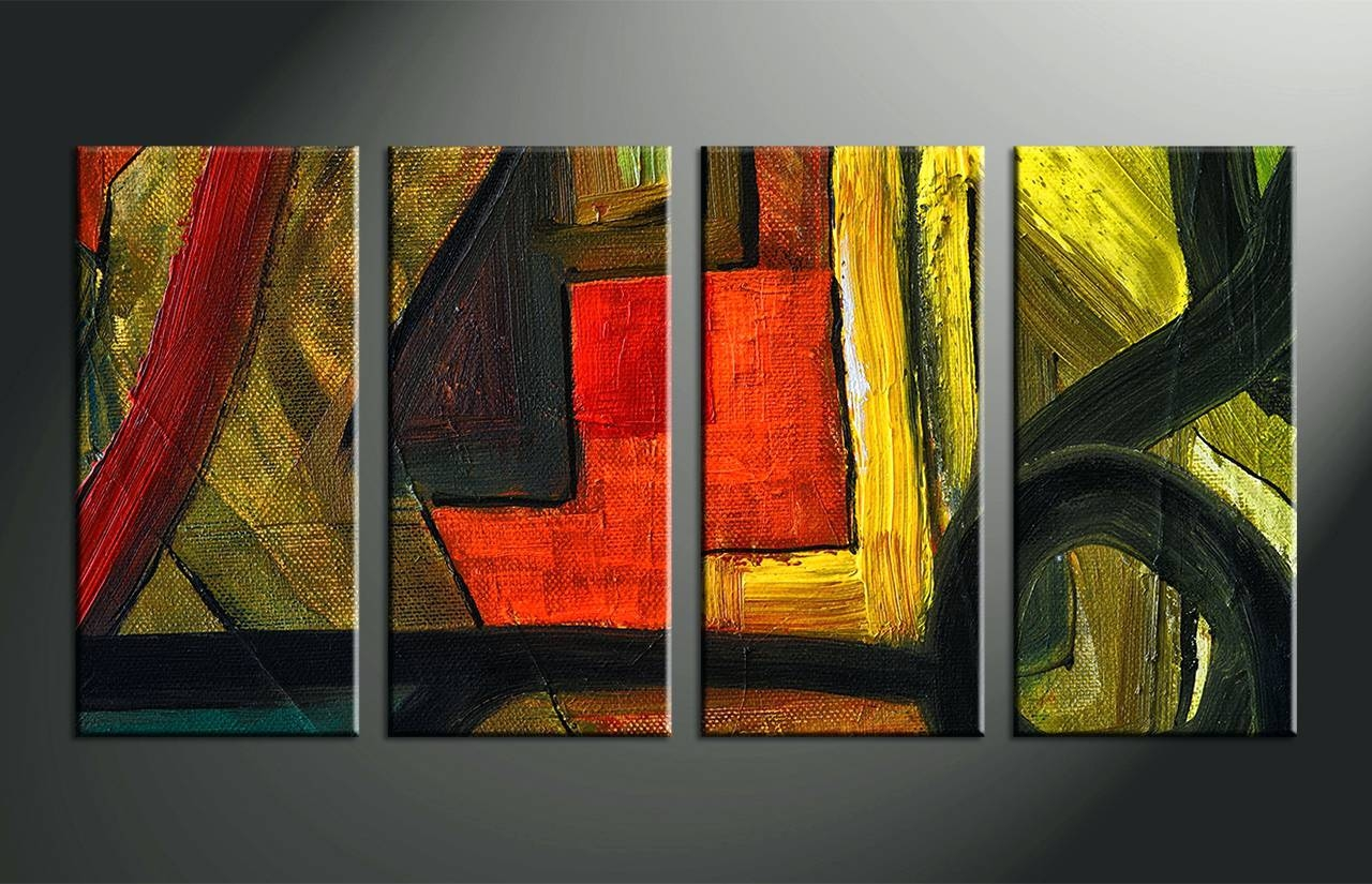Wall Arts ~ Blossoming In The Moonlight 4 Piece Wall Art Canvas 4 Regarding 2018 Colorful Metal Wall Art (View 13 of 20)