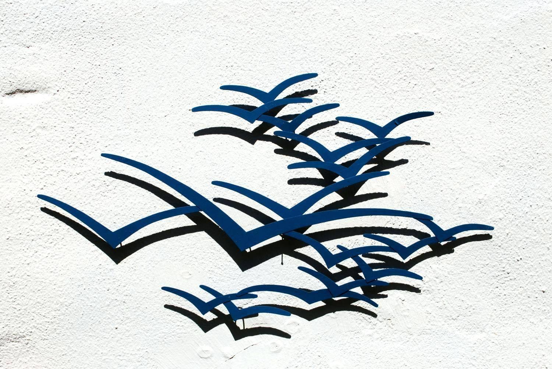 Wall Arts ~ Brass Soaring Seagull Wall Art Flock Of Seagulls Wall Within Recent Flock Of Seagulls Metal Wall Art (View 12 of 20)