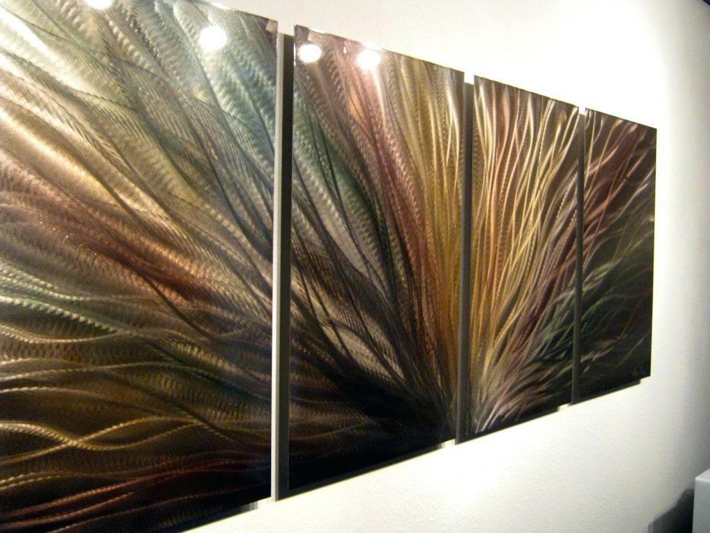 Wall Arts ~ Bronze Radiance Metal Wall Art Abstract Sculpture For Recent Painting Metal Wall Art (View 16 of 20)