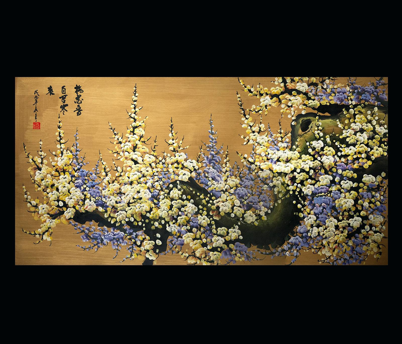 Wall Arts ~ Canvas Wall Art Japanese Cherry Blossom Painting Feng Intended For Latest Japanese Metal Wall Art (View 8 of 20)