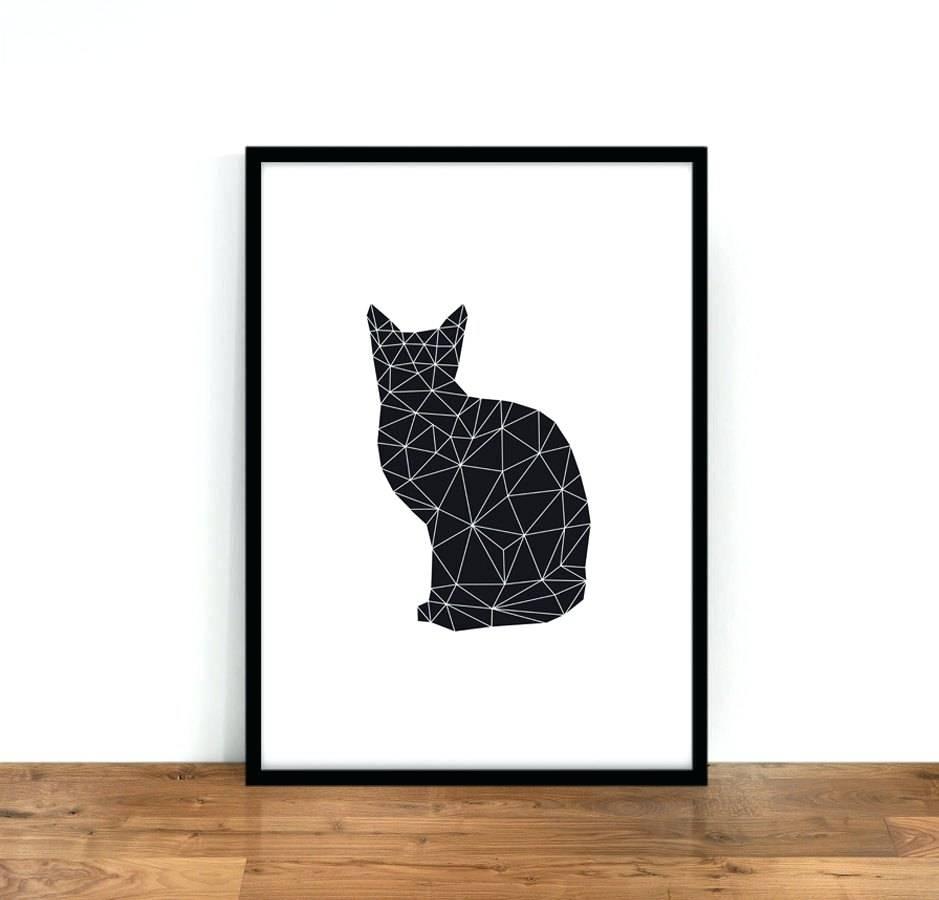 Wall Arts ~ Cat Wall Art Canvas Cat Wall Art Decals Zoom Black Cat Regarding Most Popular Cat Metal Wall Art (View 11 of 20)