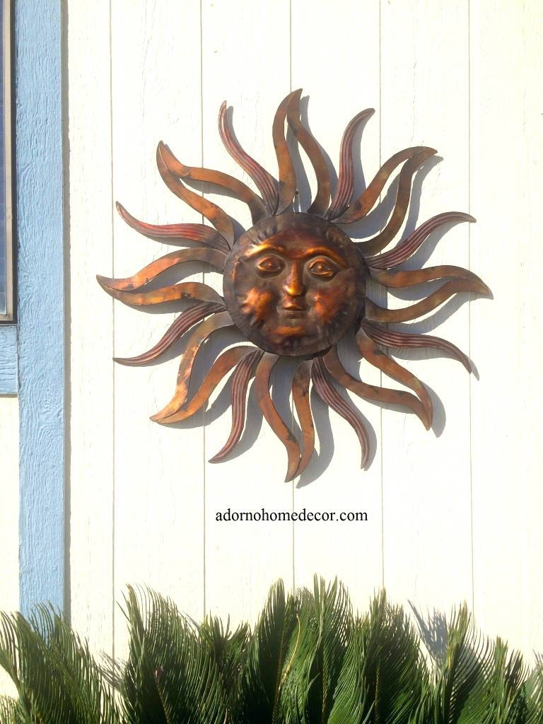 Wall Arts ~ Celestial Sun Moon Wall Art Hanging Metal Plaque Large Intended For 2017 Sun And Moon Metal Wall Art (View 15 of 20)