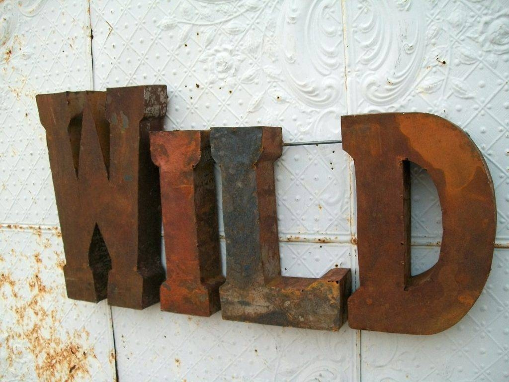 Wall Arts ~ Classic Car Metal Wall Art Large Metal Letters For Pertaining To Most Recent Retro Metal Wall Art (View 9 of 20)