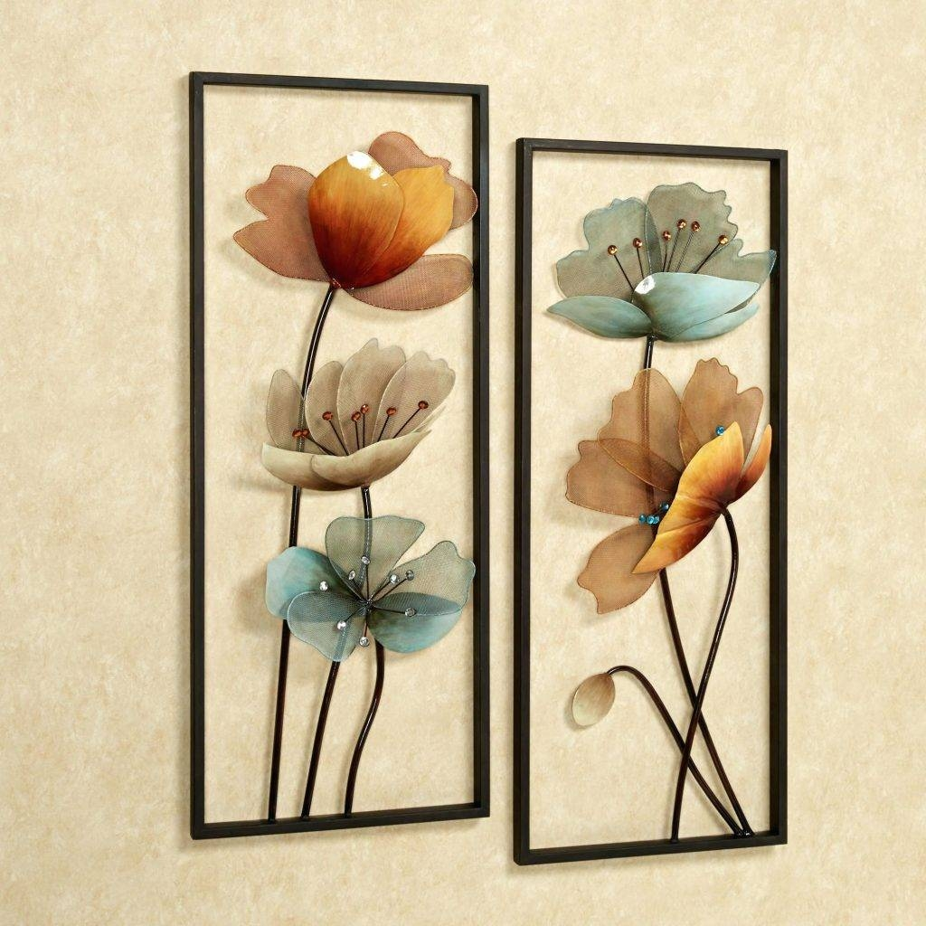 Wall Arts ~ Cool Metal Wall Art Full Size Of 2 Brown Tuscany Bloom For 2017 Cool Metal Wall Art (View 12 of 20)