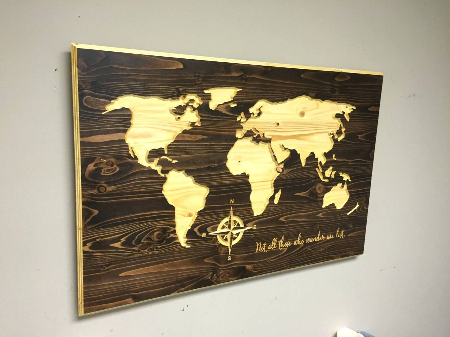 Wall Arts ~ Custom Made Wood Wall Art Custom Wood Wall Art Quotes With Regard To Best And Newest Custom Map Wall Art (View 6 of 20)