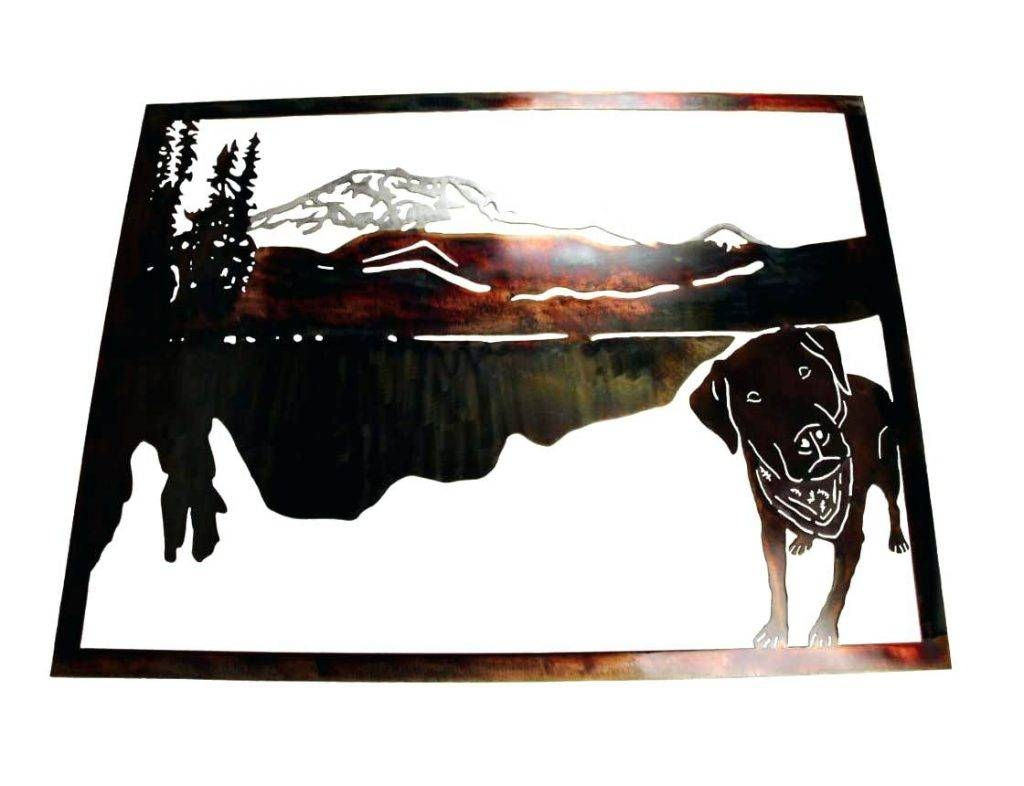 Wall Arts ~ Custom Metal Wall Art Mountain Dog Metal Wildlife Wall For Best And Newest Mountains Metal Wall Art (View 19 of 20)