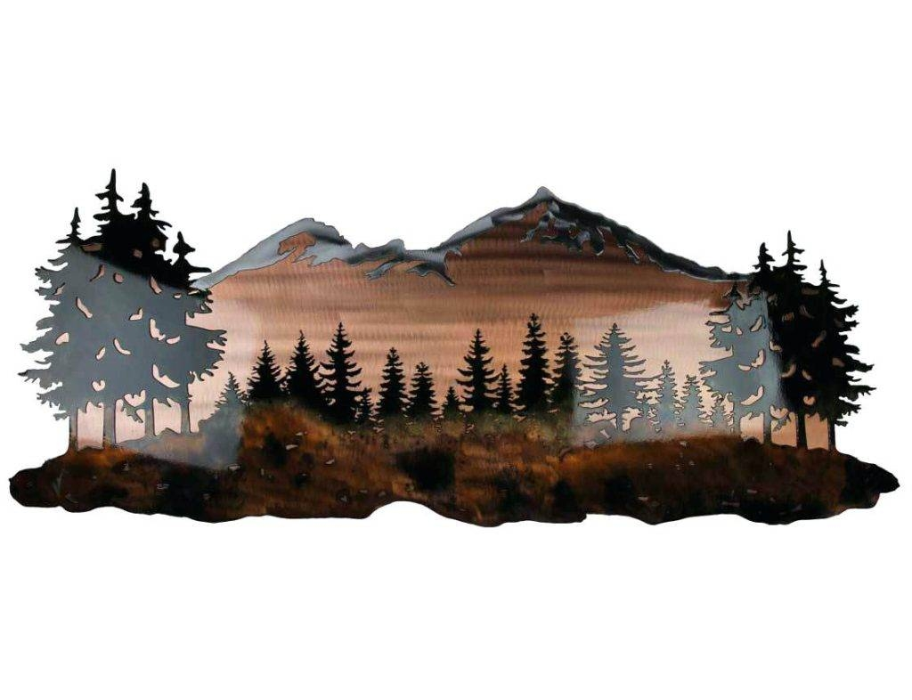 Wall Arts ~ Custom Metal Wall Sculptures Custom Photo Metal Wall Within Newest Mountains Metal Wall Art (View 20 of 20)