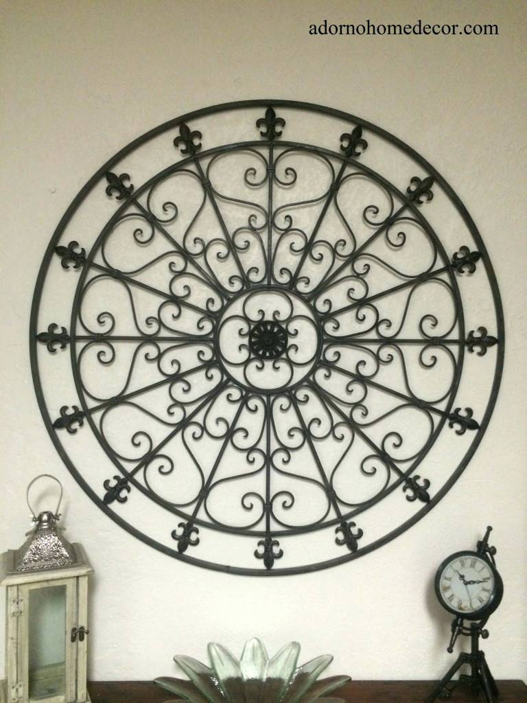 Wall Arts ~ Decorative Iron Wall Art Decorative Metal Wall Art Uk With Regard To Newest Wrought Iron Metal Wall Art (View 17 of 20)