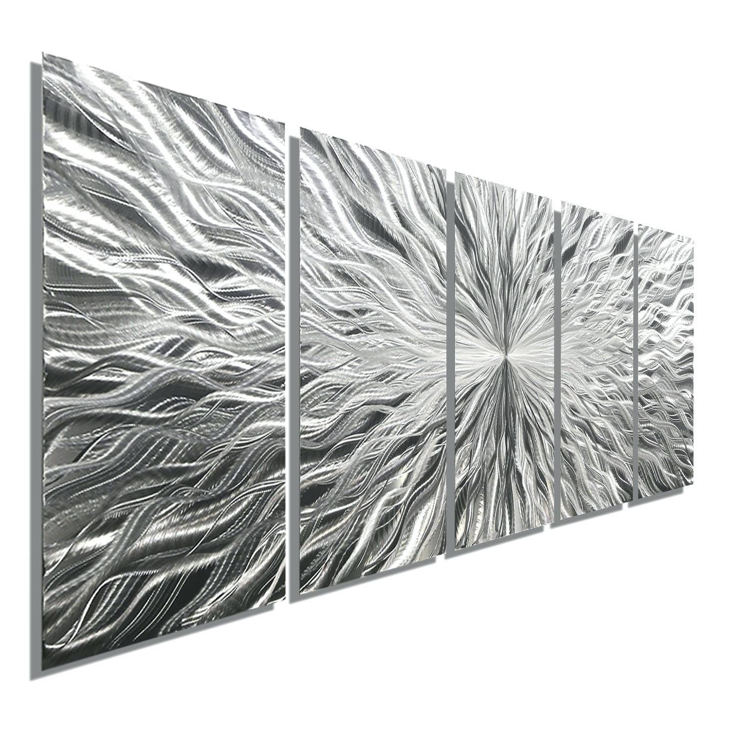 Wall Arts ~ Decorative Metal Wall Art Letters Decorative Metal Inside Current Brushed Metal Wall Art (View 9 of 20)