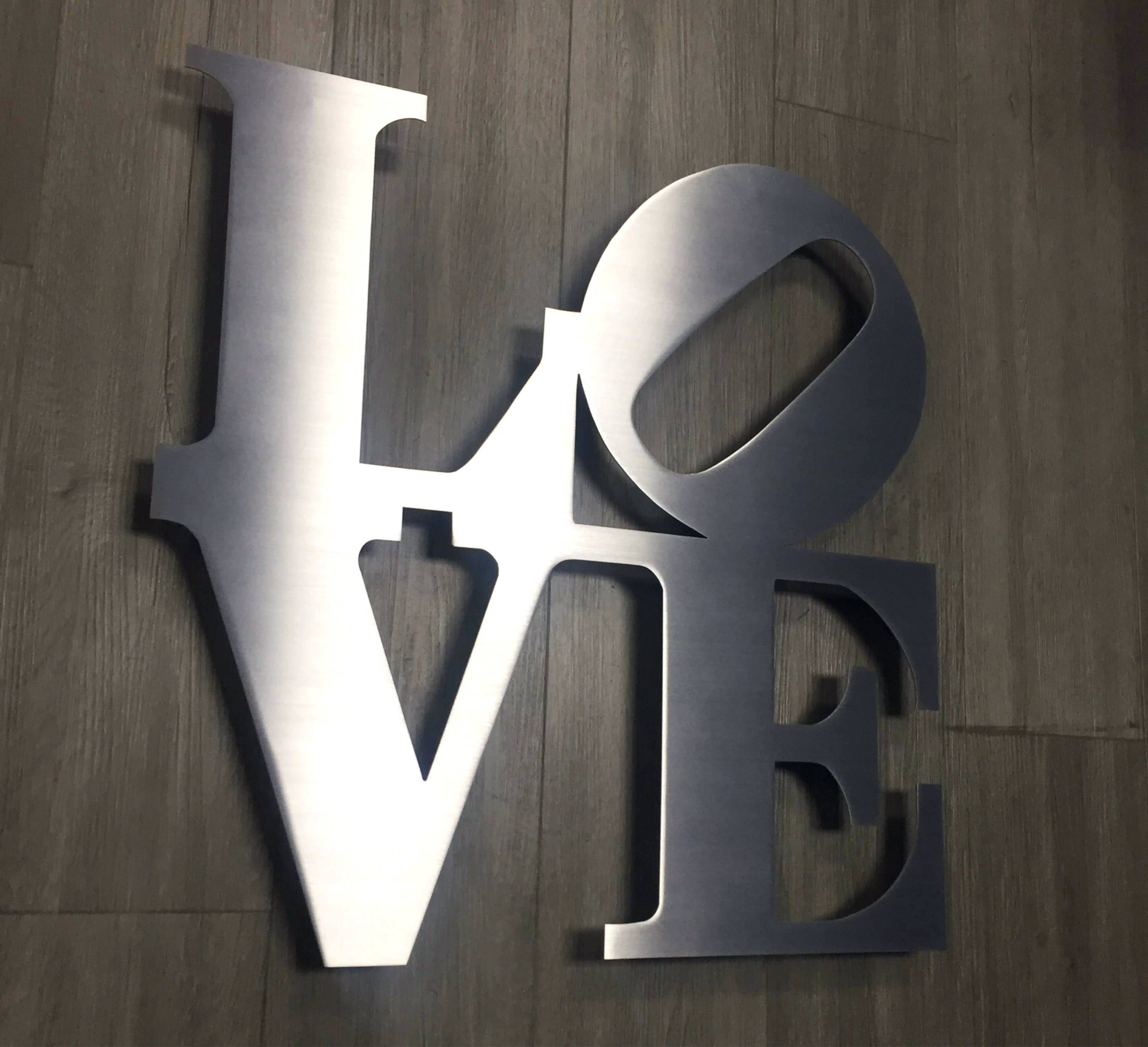 Wall Arts ~ Details Love Metal Wall Art Brushed Aluminum Wall Art Intended For 2018 Brushed Metal Wall Art (View 19 of 20)