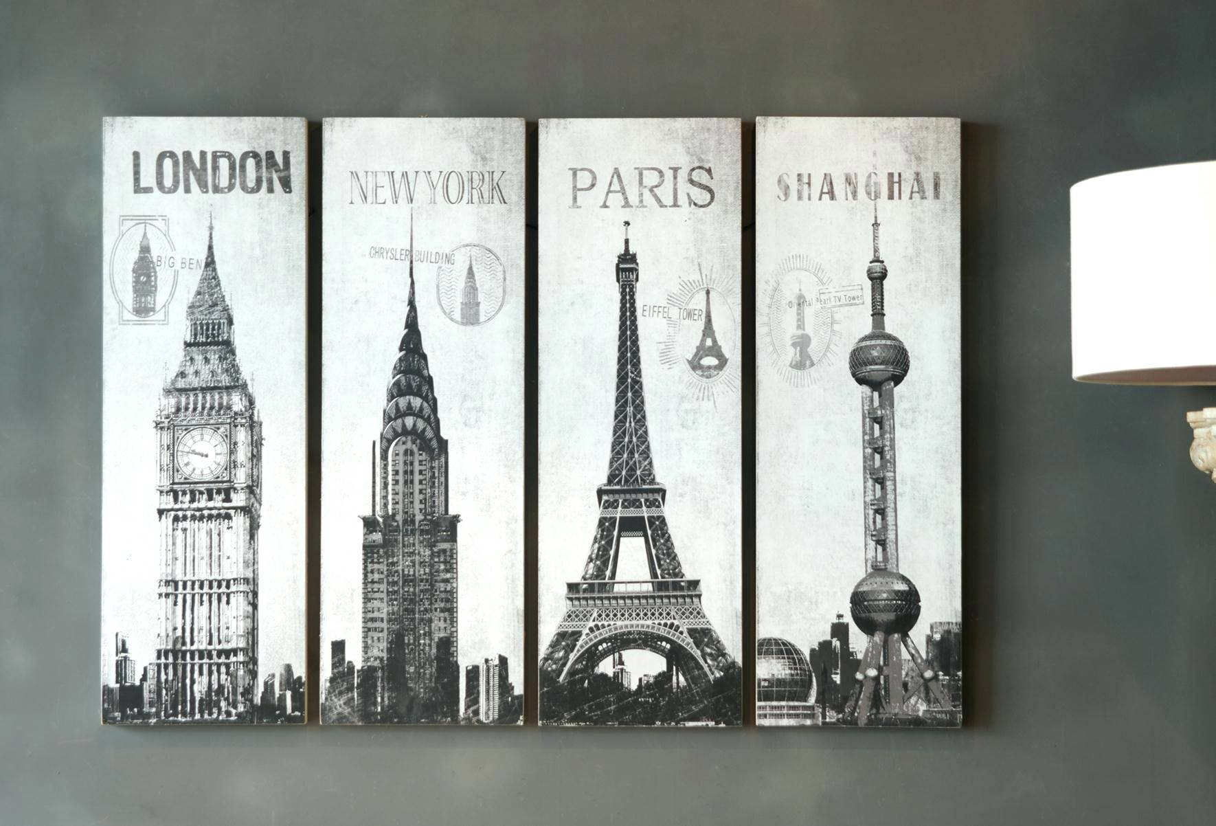 Wall Arts ~ Direct Related Pictures Wall Art London Paris Shanghai intended for Most Recent New York Map Wall Art