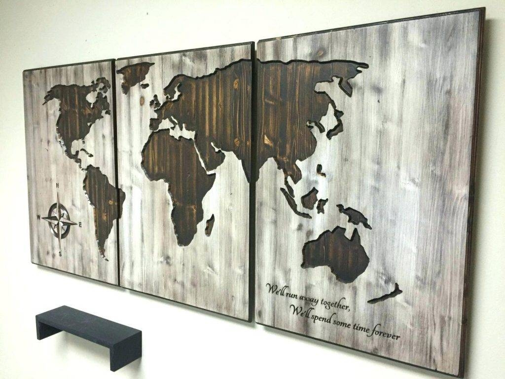 Wall Arts ~ Diy World Map Wall Art Tutorial World Map Home Decor With Current Wood Map Wall Art (View 11 of 20)