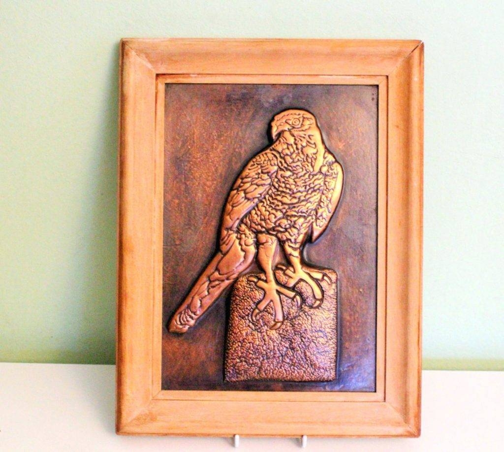 Wall Arts ~ Embossed Metal Wall Art Art A Vintage Framed 3D Inside Most Current Embossed Metal Wall Art (View 13 of 20)