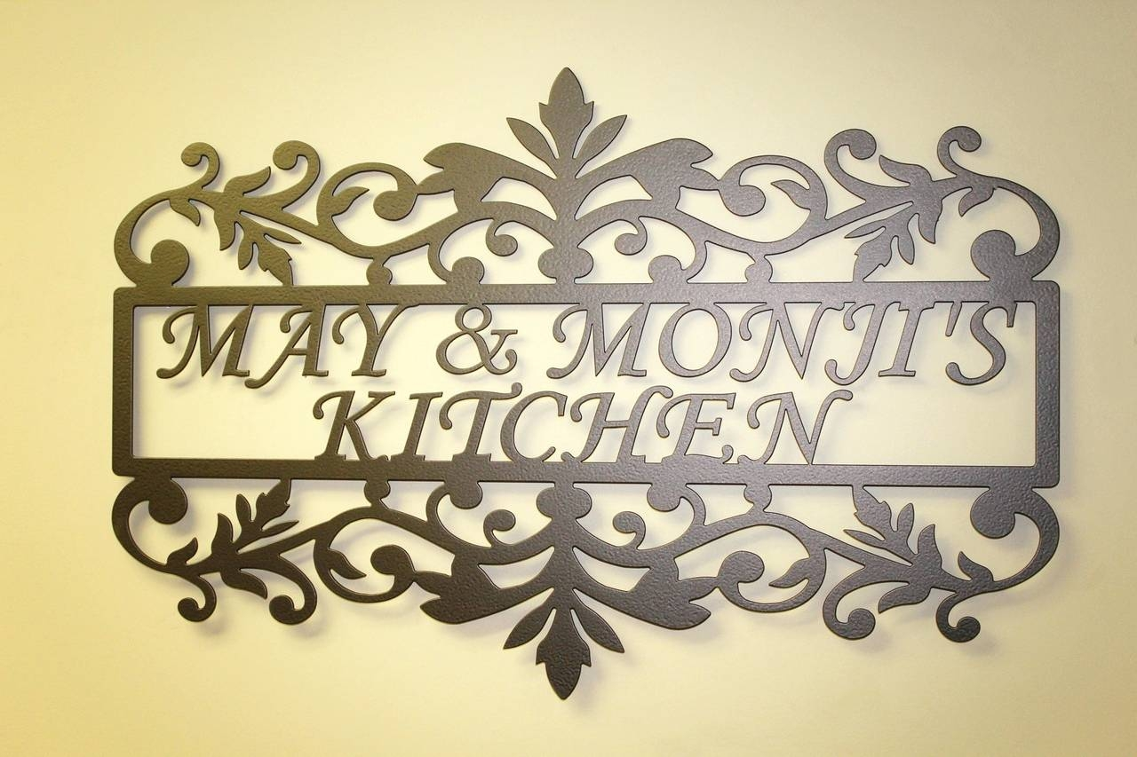 Wall Arts ~ Excellent Personalized Metal Kitchen Wall Art In Newest Personalized Metal Wall Art (View 17 of 20)