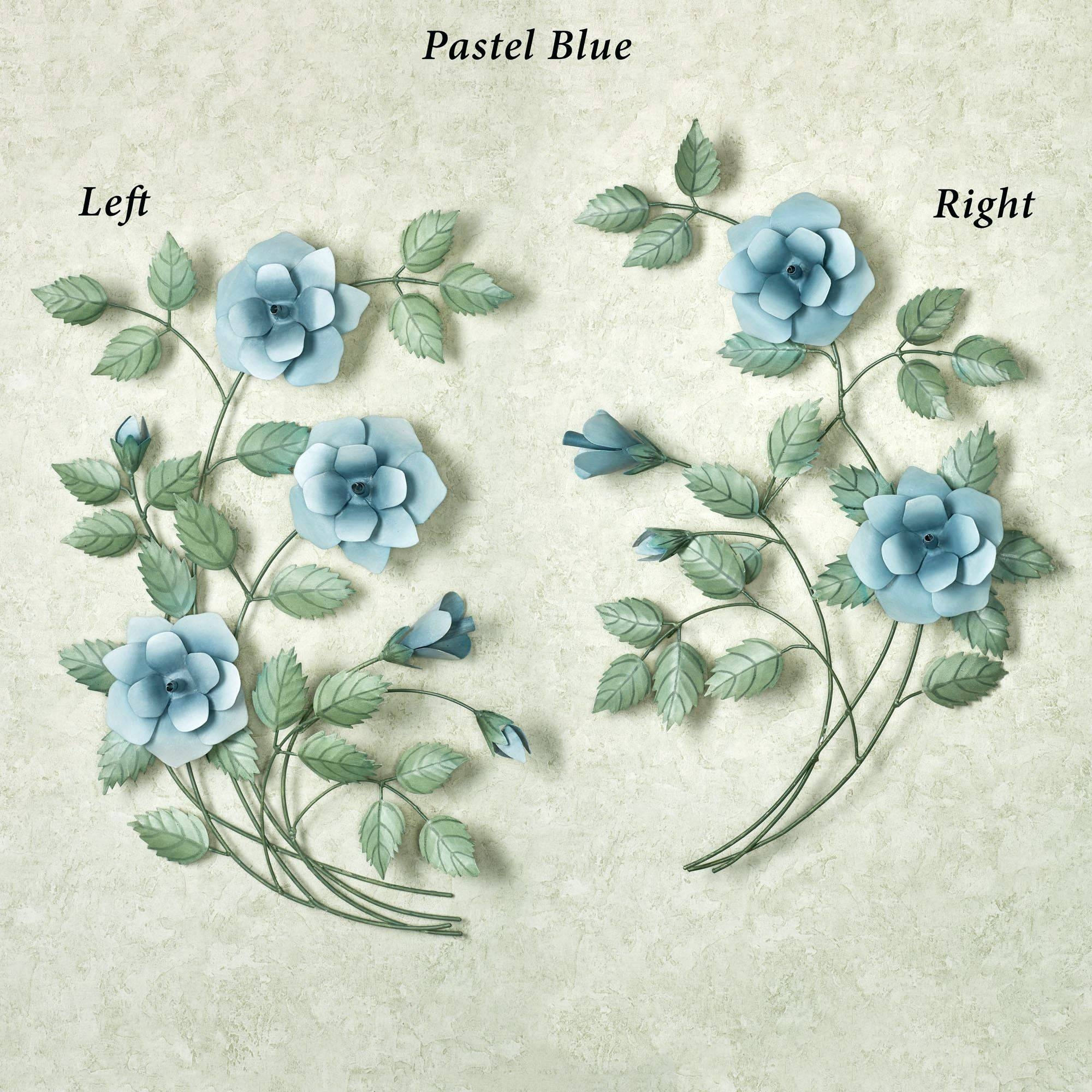 Wall Arts ~ Floral Delight Canvas Wall Art Medium Blue Set Of Two Within Newest Blue Flower Metal Wall Art (View 19 of 20)