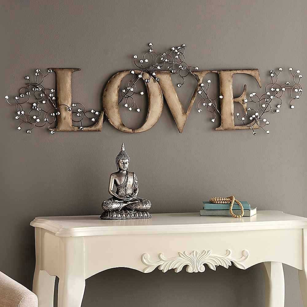 Wall Arts ~ Floral Metal Wall Art Decorations Beautiful And Within Most Recent Love Metal Wall Art (View 16 of 20)