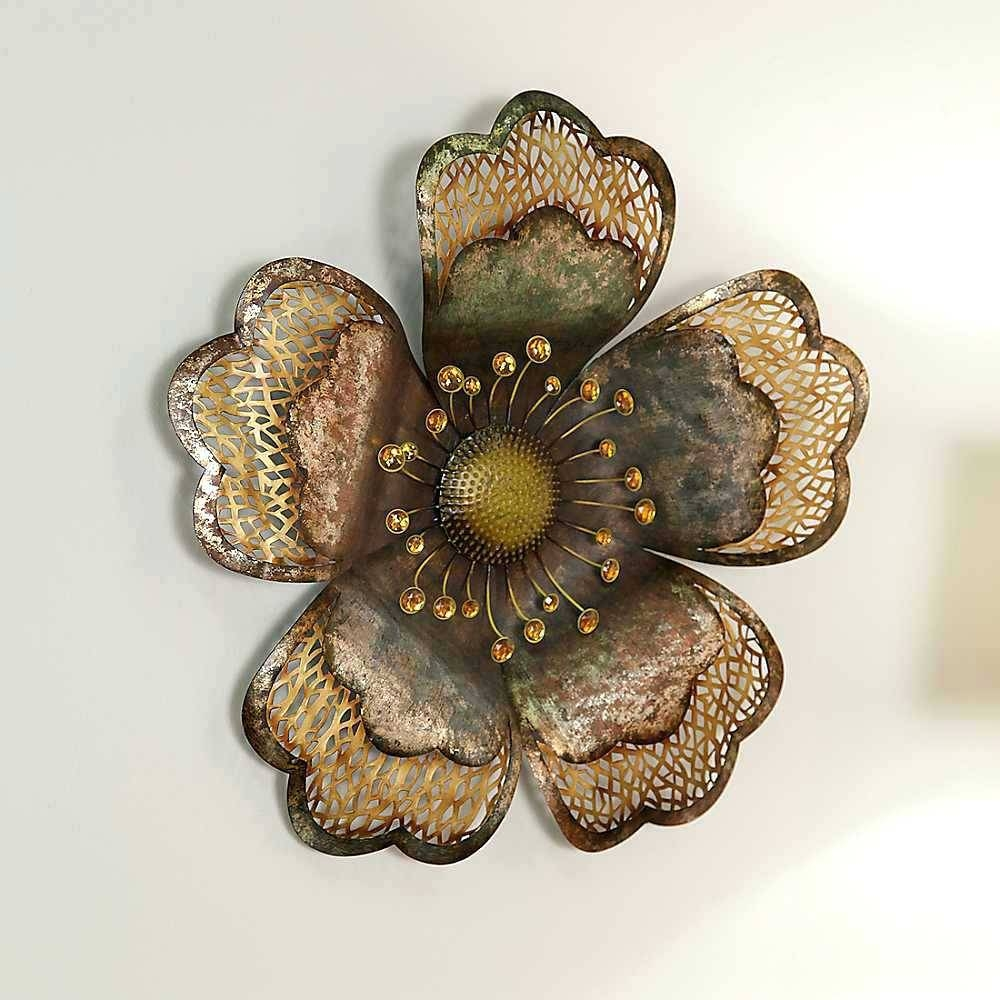 Wall Arts ~ Flower Metal Wall Art Australia Metal Flower Wall Art Intended For Most Popular Metal Wall Art Flowers (View 18 of 20)
