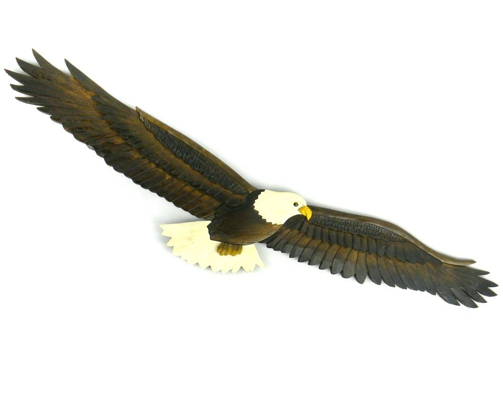 Wall Arts ~ Flying Eagle Wooden Wallhanging Eagle Metal Wall Art Regarding Most Current Eagle Metal Wall Art (Gallery 20 of 20)