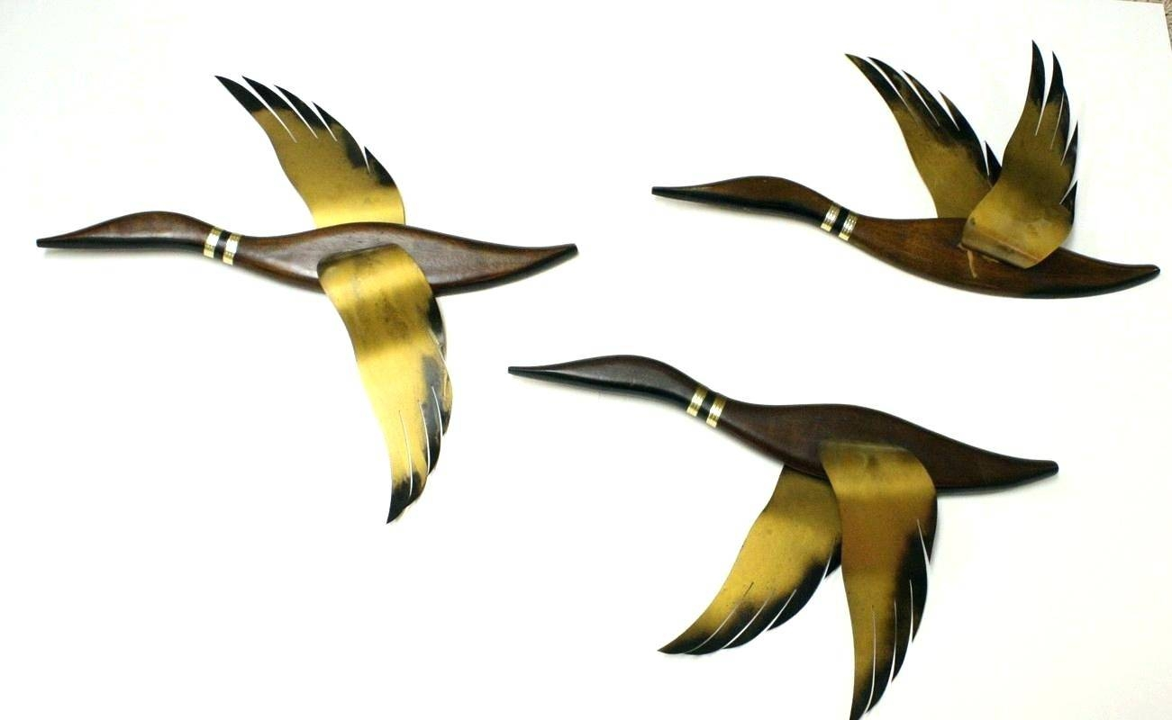 Wall Arts ~ Flying Geese Wall Art Wooden Flying Geese Wall Art With Regard To Most Recent Metal Wall Art Birds In Flight (View 10 of 20)