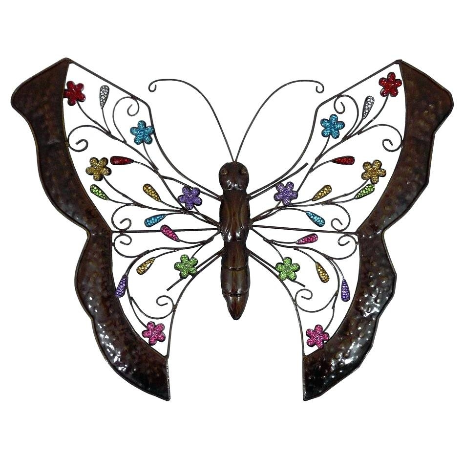 Wall Arts ~ Full Size Of Butterfly Garden Metal Wall Art Decor Within 2018 Butterfly Garden Metal Wall Art (View 14 of 20)