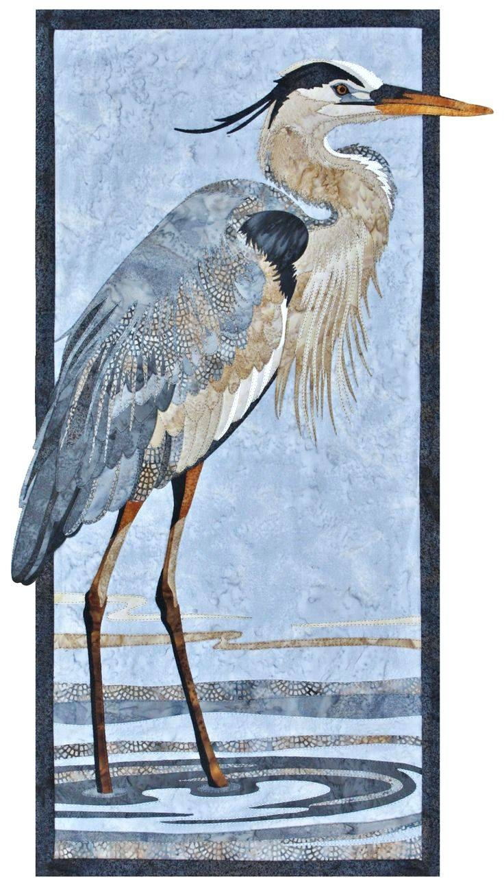 Wall Arts Great Blue Heron Metal Art Wooden For Most Popular