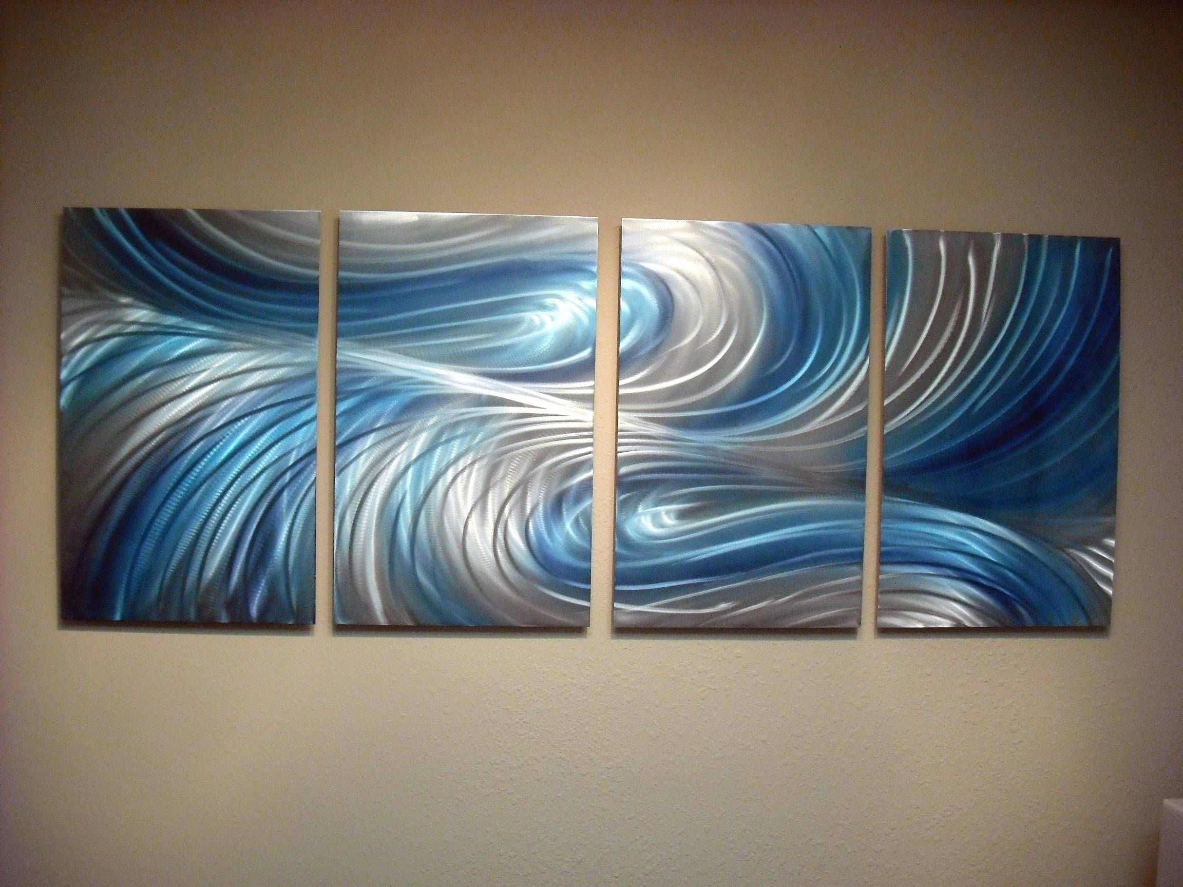 Wall Arts ~ Hand Painted 3 Dimensional Wall Art Large 3 In Most Current Colorful Metal Wall Art (View 3 of 20)