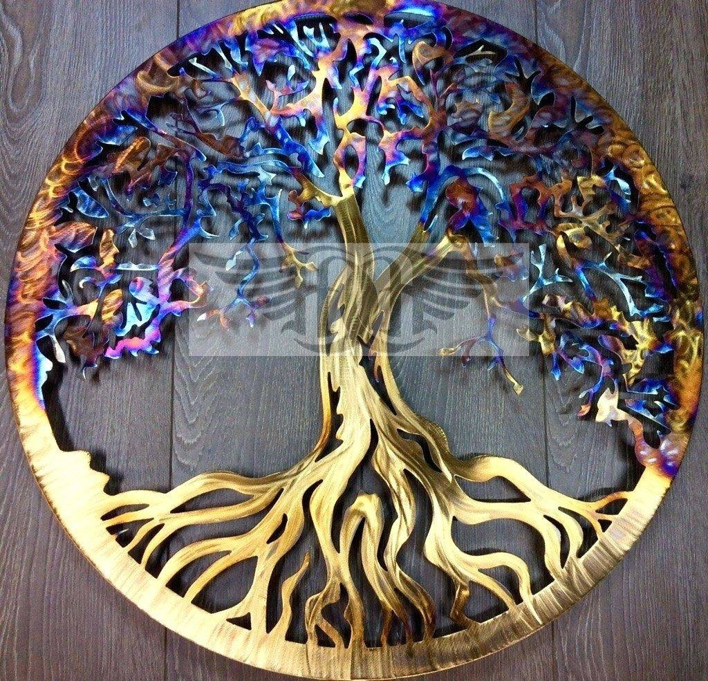 Wall Arts ~ Handmade Metal Wall Art Tree Of Abundant Life Handmade Regarding Current Handmade Metal Wall Art (View 4 of 20)