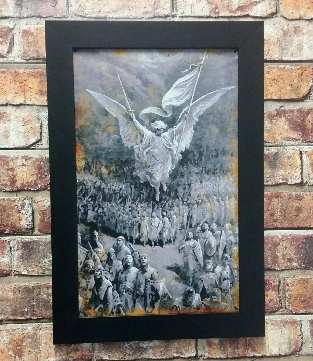 Wall Arts ~ Heron Metal Wall Art Heron Wall Art New Angels Over Within Most Up To Date Wood Framed Metal Wall Art (View 20 of 20)
