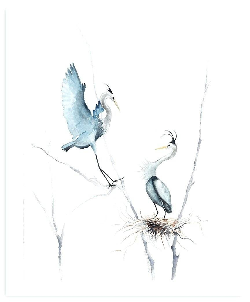Wall Arts ~ Heron Wall Art Heron Outdoor Wall Art Great Blue Heron Inside Newest Blue Heron Metal Wall Art (View 10 of 20)