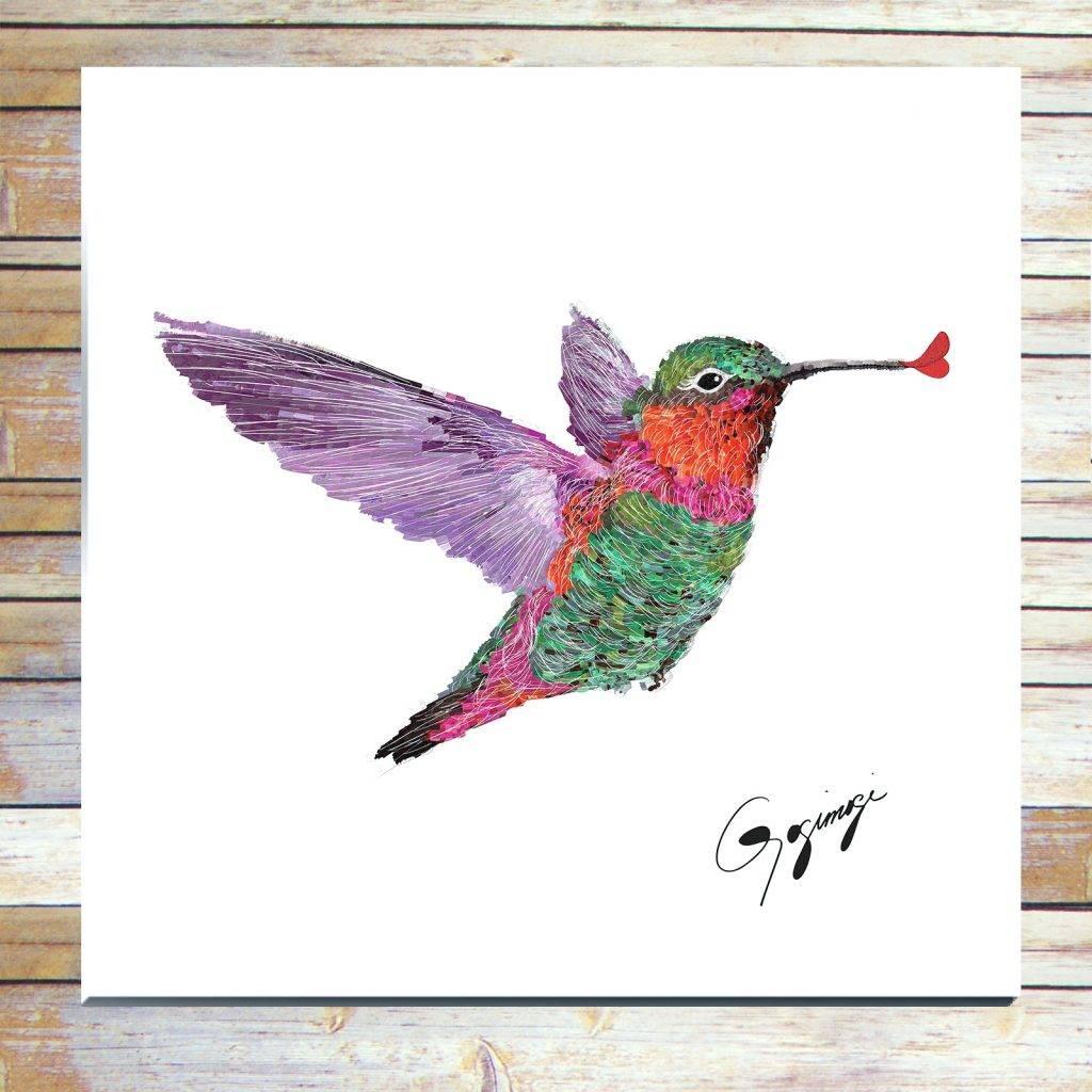 Wall Arts ~ Hummingbird Vinyl Wall Art Hummingbird Wall Art Metal Intended For Recent Hummingbird Metal Wall Art (View 8 of 20)