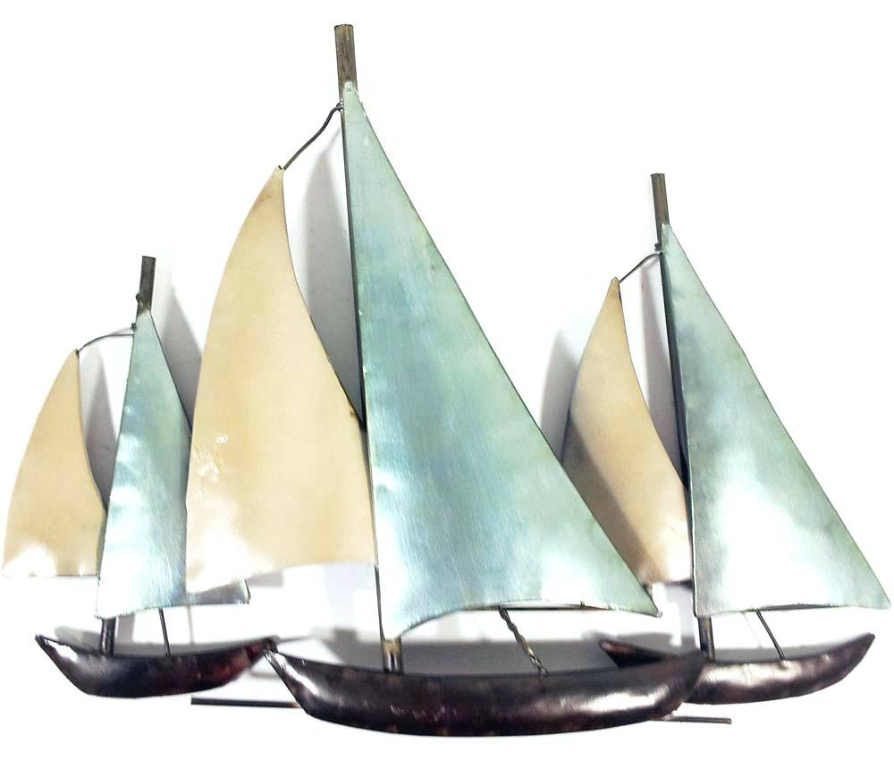 Wall Arts ~ Impressive Design Ideas Metal Wall Art Sail Large Regarding Most Popular Metal Wall Art Ships (View 4 of 20)