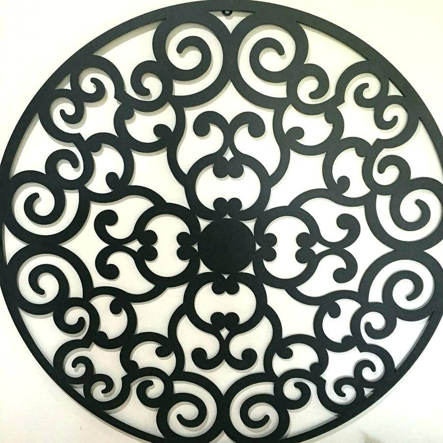 Wall Arts ~ Iron Scroll Wall Art Decor 73 Beautiful Large Round With Regard To Most Recent Pottery Barn Metal Wall Art (View 8 of 20)