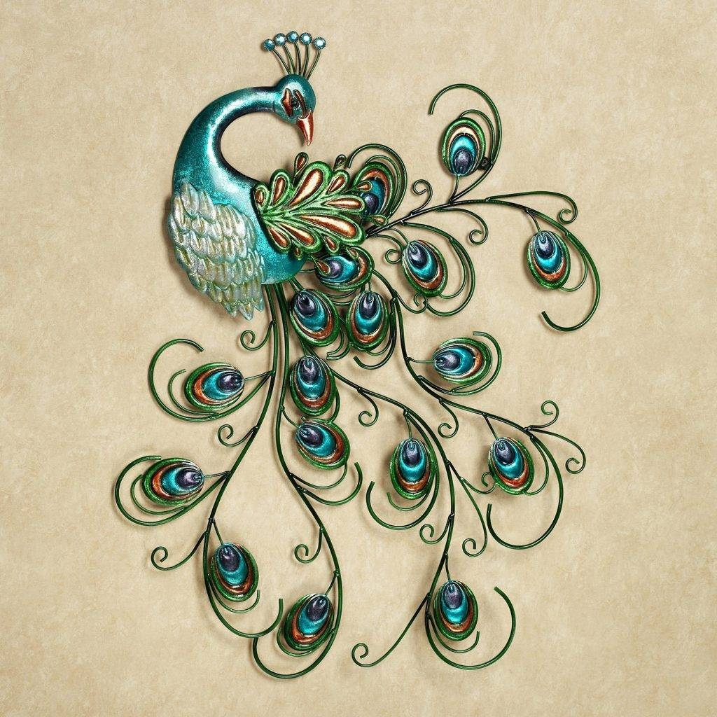 Wall Arts ~ Jeweled Peacock Metal Wall Art Bedazzle Your Walls Within 2017 Pier One Metal Wall Art (View 10 of 20)