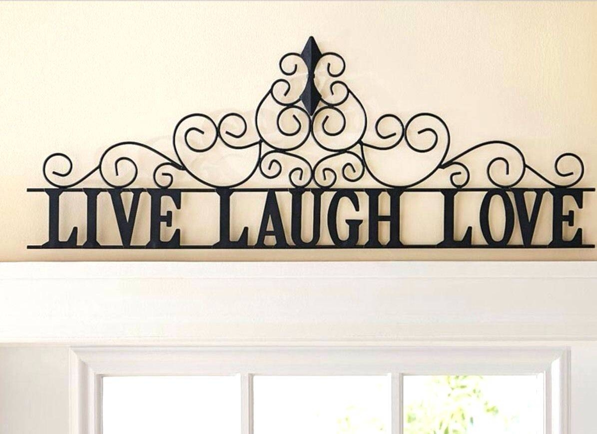 Wall Arts ~ Large Metal Scroll Wall Art Love Metal Love Wall Art With Most Up To Date Live Laugh Love Metal Wall Art (View 14 of 20)