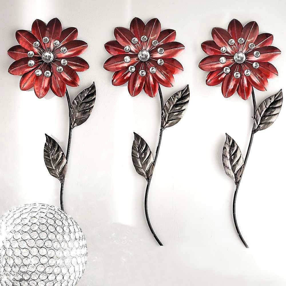 Wall Arts ~ Large Metal Wall Art Flowers Metal Wall Art Flowers Uk Intended For Recent Metal Wall Art Flowers (Gallery 9 of 20)