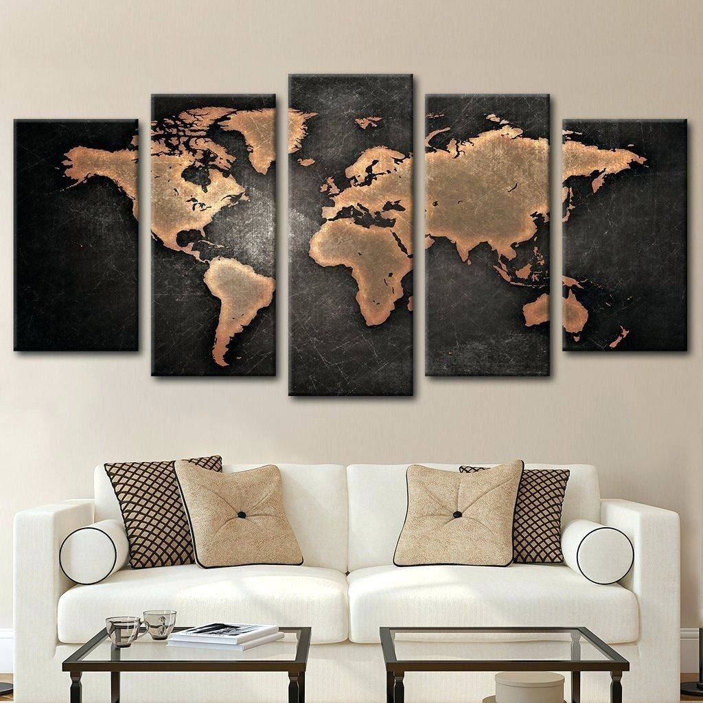 Wall Arts ~ Large Wall Art World Map Diy World Map Wall Art Intended For Most Recently Released Large Map Wall Art (View 14 of 20)