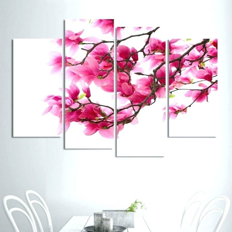 Wall Arts ~ Magnolia Framed Wall Art Magnolia Framed Wall Art Pertaining To Most Popular Pink Metal Wall Art (View 13 of 20)