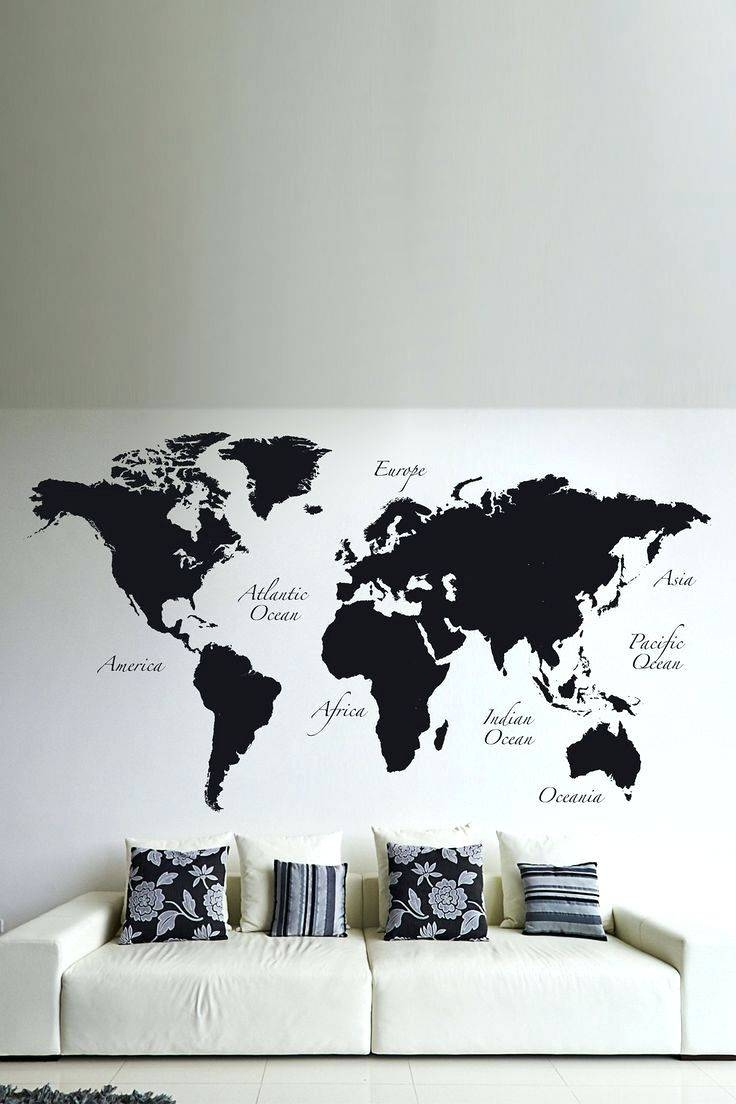 Wall Arts ~ Map Wall Art Etsy Wood Us And Canada Map Wall Art With Regard To Best And Newest Africa Map Wall Art (View 10 of 20)
