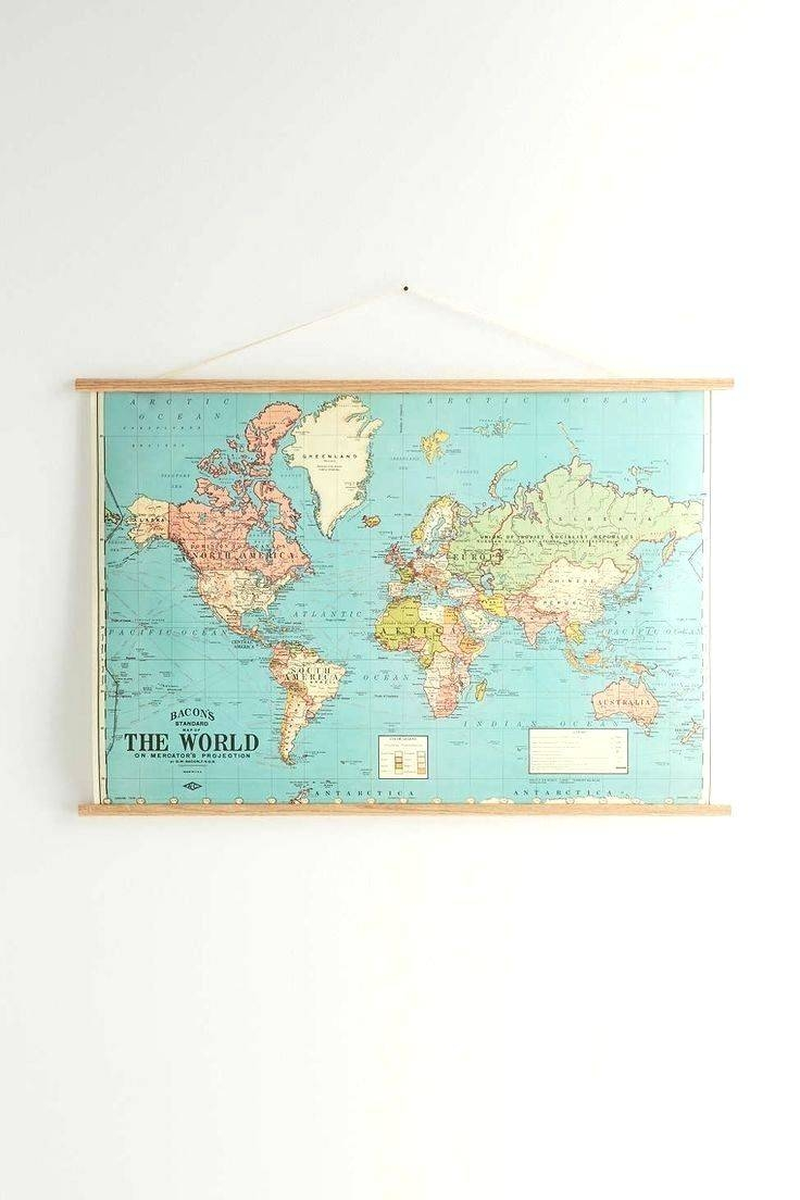 Wall Arts ~ Map Wall Art Ideas Map Wall Art Uk Hanging World Map Pertaining To Most Recent Map Wall Art Prints (View 20 of 20)