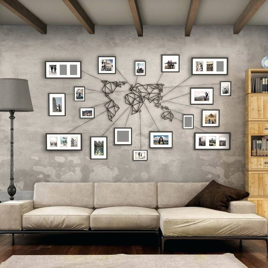 Wall Arts ~ Mercators World Map Canvas Wall Art 5 Pieces Modular In 2018 Abstract Map Wall Art (View 7 of 20)