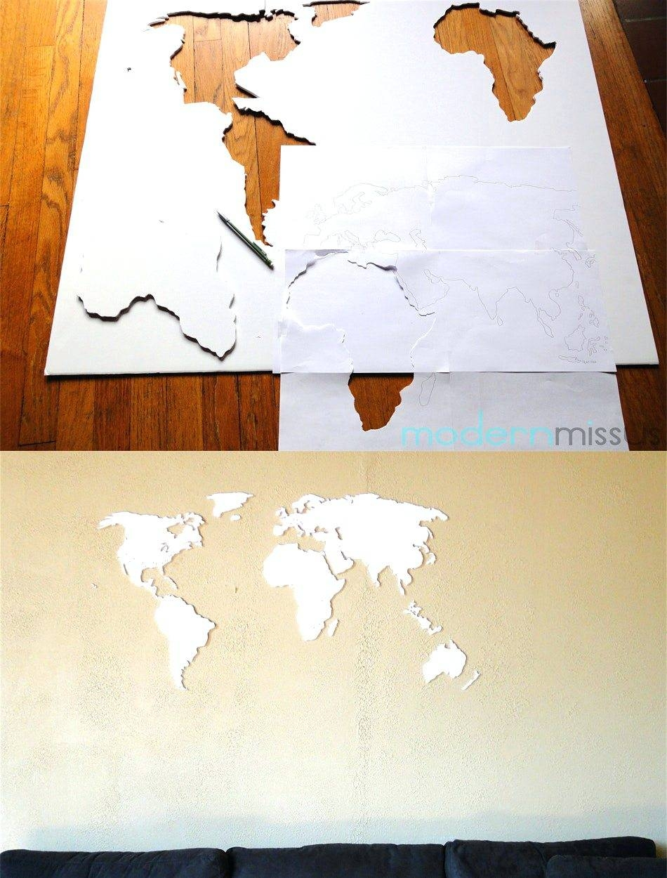 Wall Arts ~ Mercators World Map Canvas Wall Art Diy World Map Wall Within Most Recently Released Africa Map Wall Art (View 11 of 20)