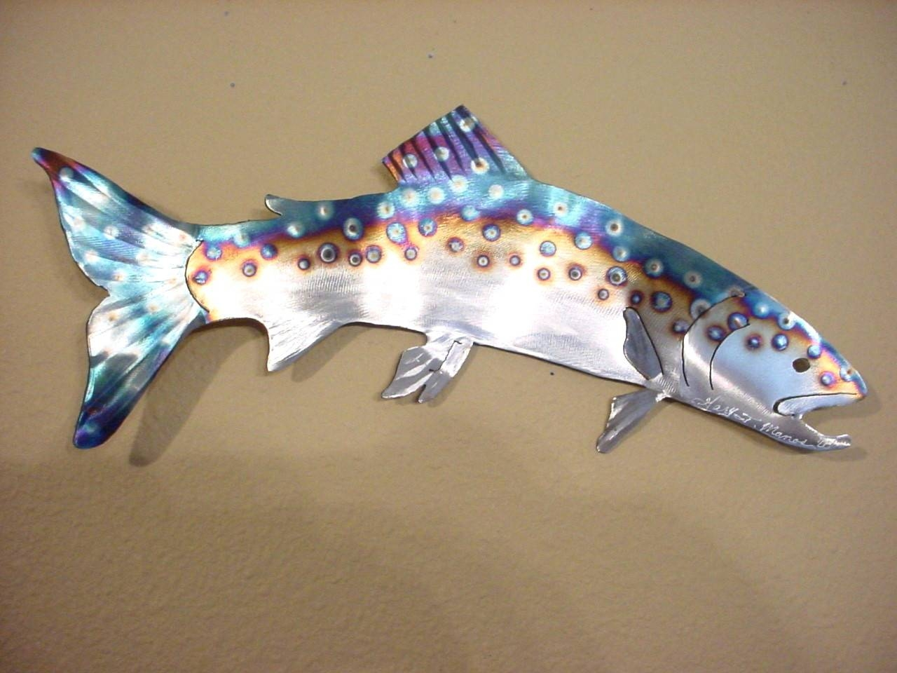 Wall Arts ~ Metal Fish Wall Art New Zealand Woodland Imports 40 In In Best And Newest School Of Fish Metal Wall Art (View 18 of 20)