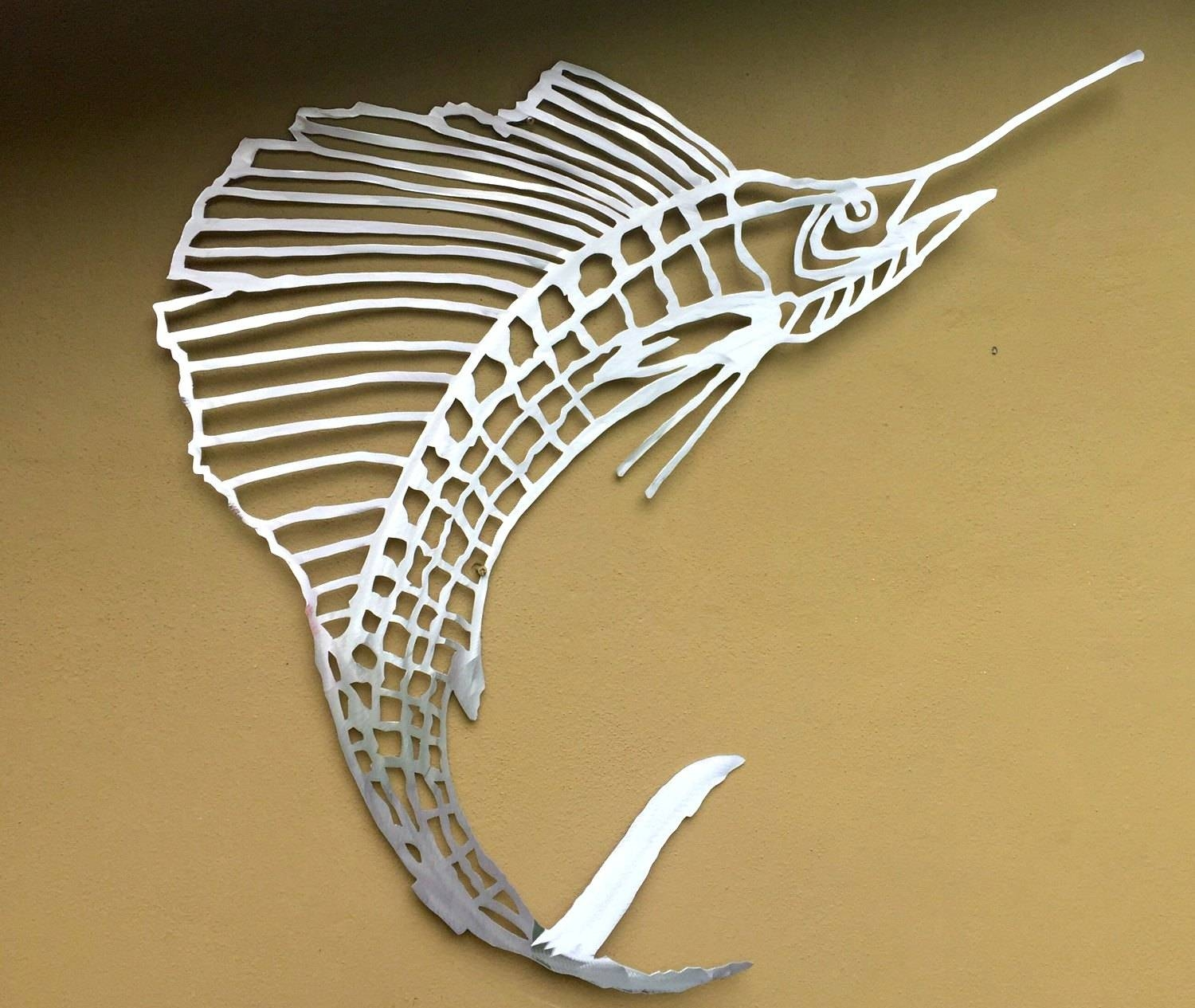 Wall Arts ~ Metal Fish Wall Art Sculptures Nz Stripped Bass Metal Pertaining To Most Current New Zealand Metal Wall Art (View 13 of 20)