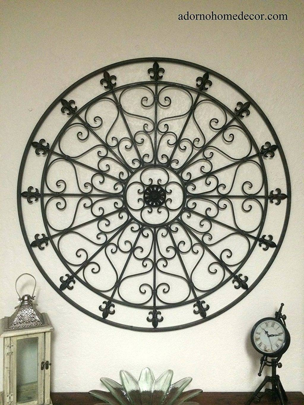 Wall Arts ~ Metal Fleur De Lis Wall Art Tuscan Fleur De Lis Within Latest Large Round Metal Wall Art (View 15 of 20)