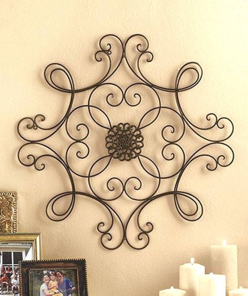 Wall Arts ~ Metal Flower Wall Art Target Inspirational Iron Scroll In Most Popular Scrolled Metal Wall Art (View 19 of 20)