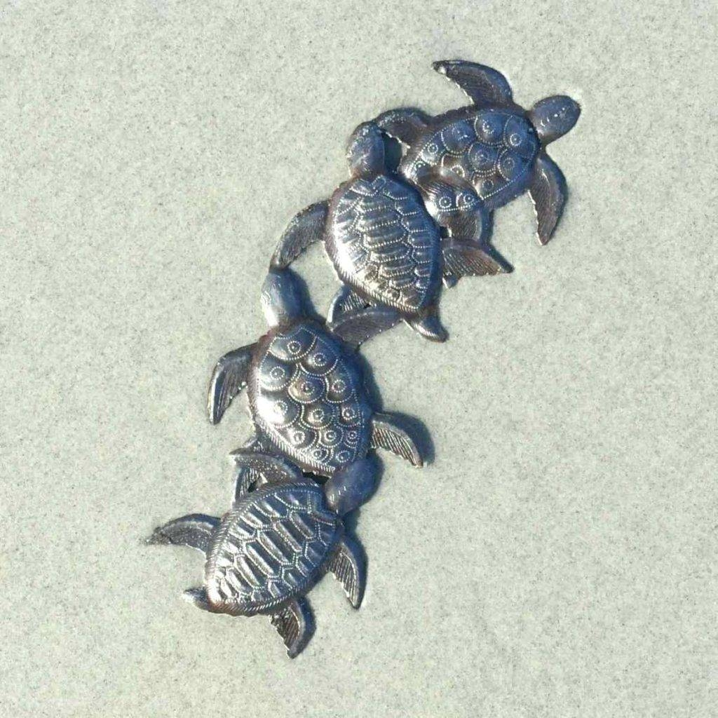 Wall Arts ~ Metal Sea Turtle Wall Art Tropical Ocean Sea Turtle Inside Current Turtle Metal Wall Art (View 16 of 20)