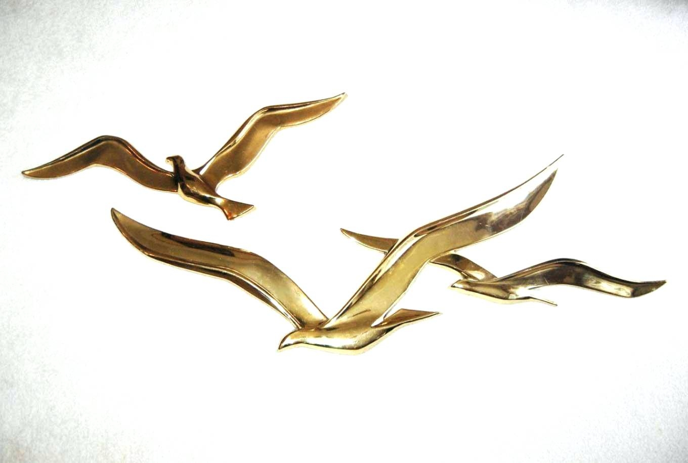 Wall Arts ~ Metal Seagulls Wall Art Brass Seagulls Wall Art Flock In 2018 Flock Of Seagulls Metal Wall Art (View 12 of 20)