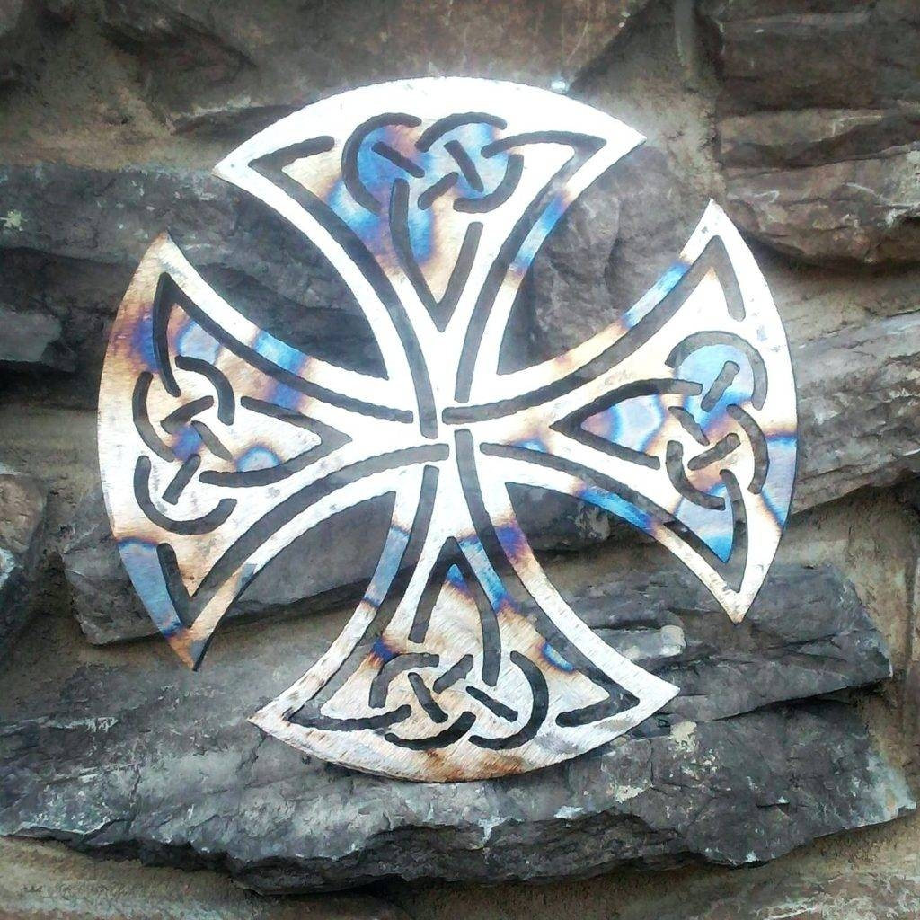 Wall Arts ~ Metal Wall Art Celtic Crosses Upcycled Scrap Metal Inside Best And Newest Celtic Metal Wall Art (View 9 of 20)