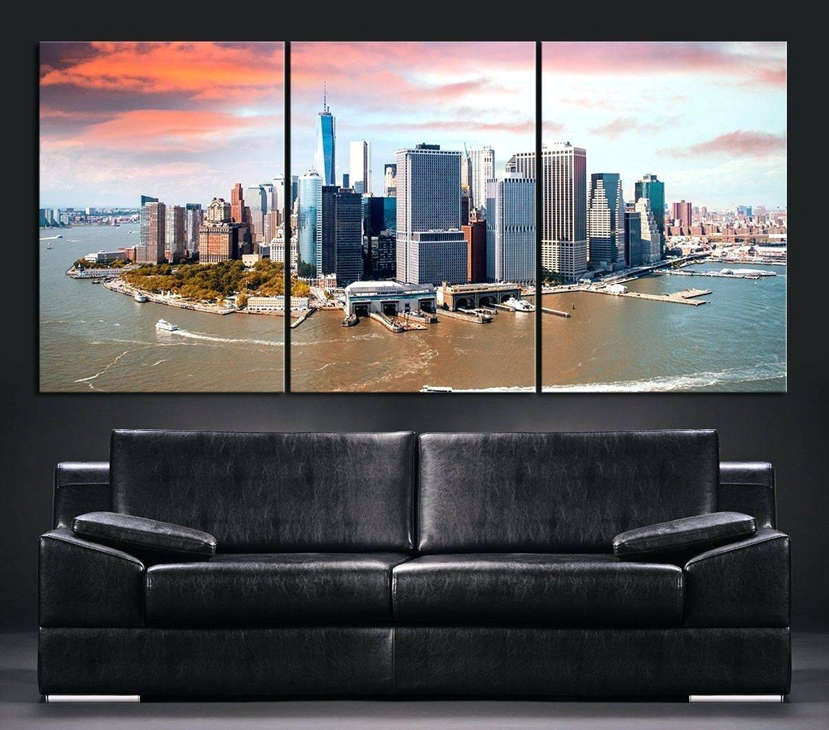 Wall Arts ~ Metal Wall Art New York City Skyline Wall Art New York Inside Most Popular New York City Skyline Metal Wall Art (View 14 of 20)