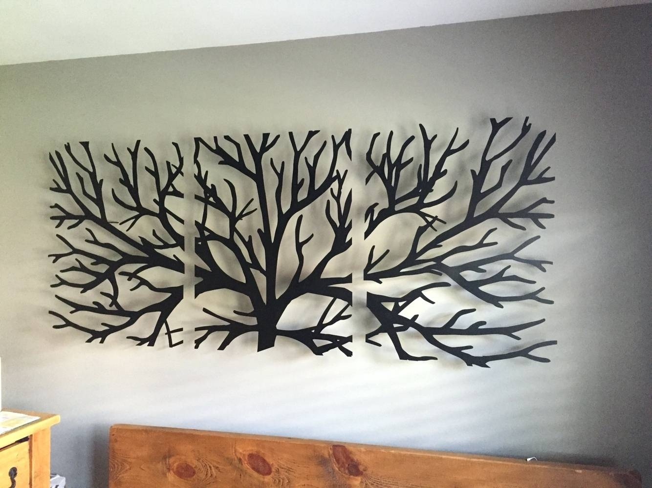 Wall Arts ~ Metal Wall Art Trees And Branches Wall Art Headboard For Recent Birds On A Branch Metal Wall Art (View 6 of 20)